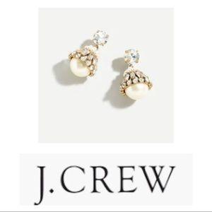 NWT J. Crew Pearl Drop Earrings
